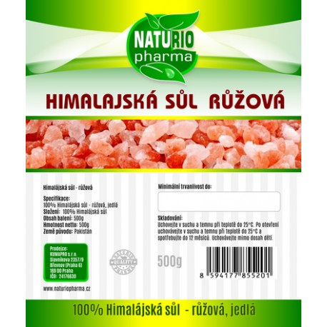 Himalájská sůl - růžová Premium 500g