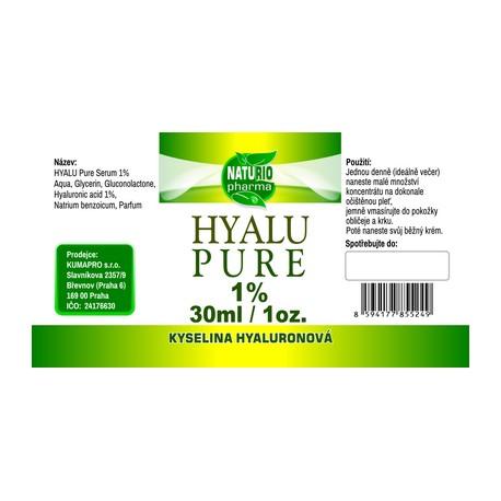 Hyaluronic acid pure 1% 30ml